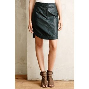 Anthropologie Maeve Round Vegan Leather Skirt